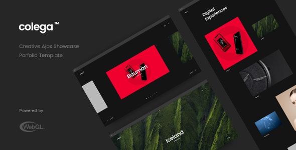 Colega - Creative Ajax Portfolio Showcase Slider Template - Creative Site Templates