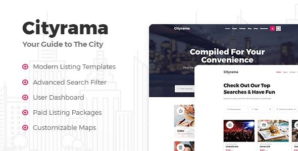 Cityrama - Listing & City Guide Theme - Directory & Listings Corporate