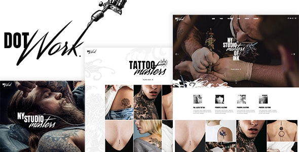 Dotwork - Tattoo Studio and Piercing Shop Theme - Health & Beauty Retail