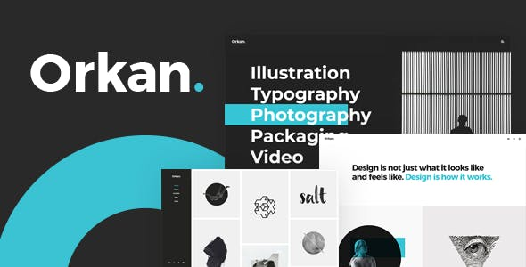 Orkan - Artist and Design Agency Portfolio Theme