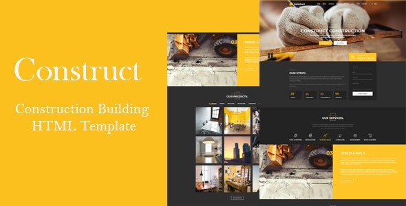 Construc | Responsive HTML Template - Corporate Site Templates