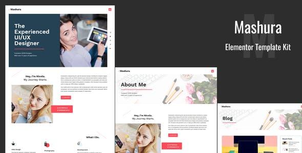 Mashura - Portfolio Elementor Template Kit