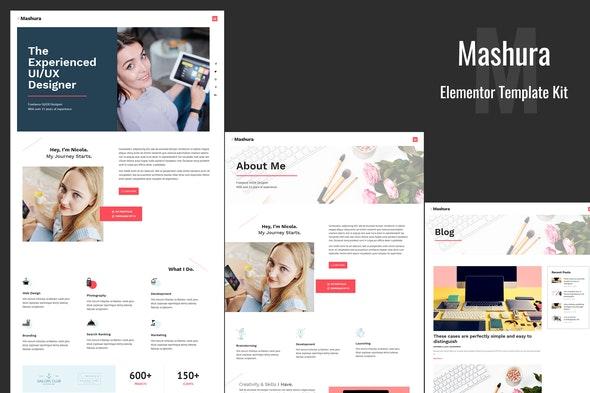 Mashura - Portfolio Elementor Template Kit by Templatation | ThemeForest