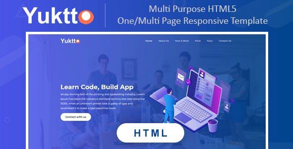 Yuktto | Multi Purpose Html5 Responsive One/Multi Page Business Template