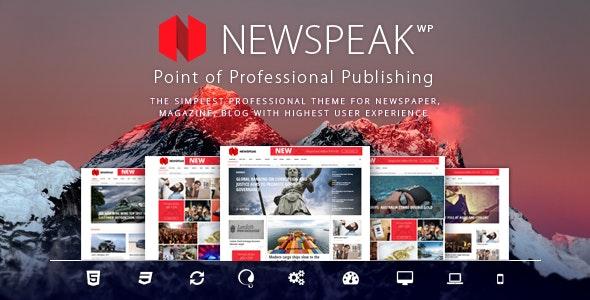 Newspeak - Responsive Magazine WordPress Theme - News / Editorial Blog / Magazine