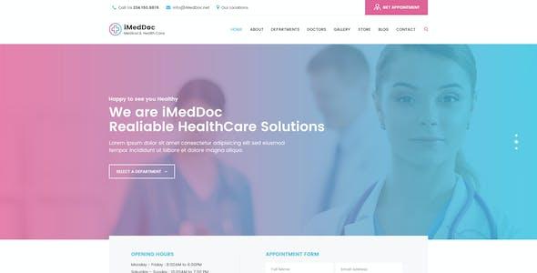 iMedDoc: Medical Center and Coronavirus Prevention PSD Template