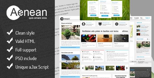 Aenean - Premium Ajax Templates - Business Corporate