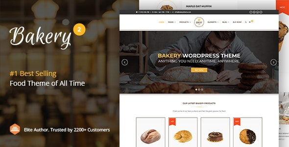 Bakery | WordPress Cake & Food Theme - Food Retail