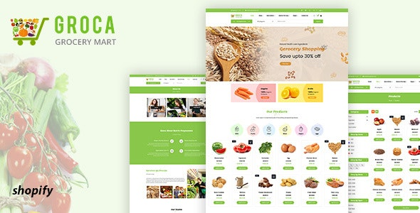Groca - Grocery, Supermarket Shopify Theme - Shopping Shopify