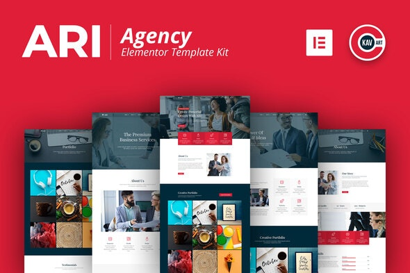 ARI - Agency Template Kit - Business & Services Elementor