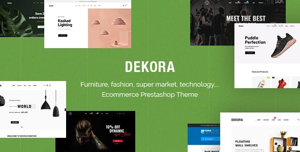 Dekora - Multipurpose Responsive Prestashop 1.7.7.x Theme