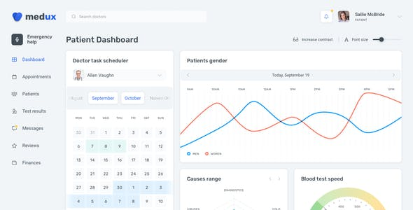 Medux – Web Dashboard UI Kit for Figma