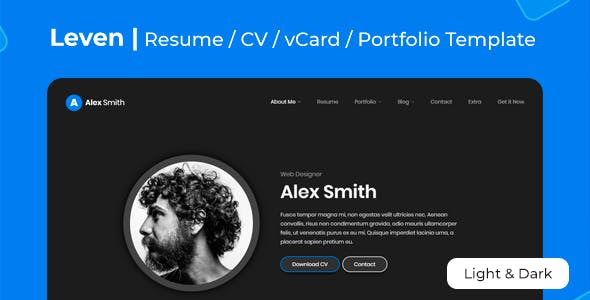 Leven | CV Resume Template