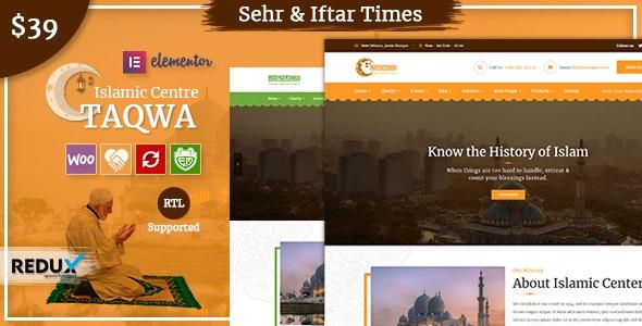 Taqwa Islamic Center WordPress Theme