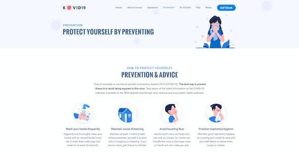 KOVID19 – Coronavirus (COVID-19) Prevention & Informatics PSD Template