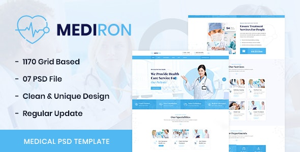 Mediron Health Medical Psd Template By Regontheme Themeforest