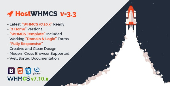 HostWHMCS | Responsive Web Hosting with WHMCS Template - Hosting Technology