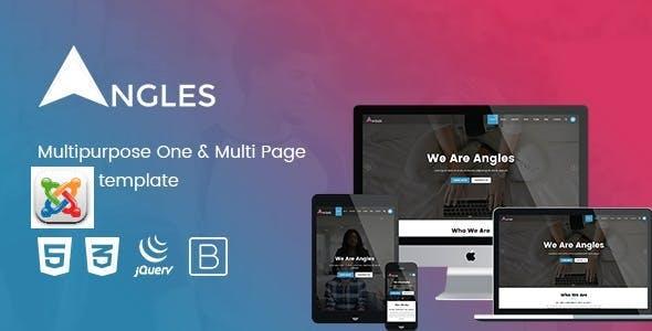 Angles - Multipurpose One & Multi Page Joomla template