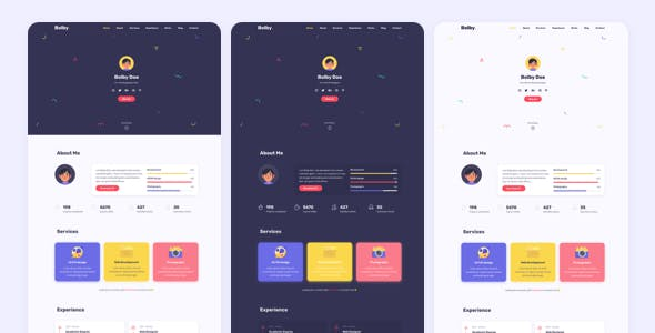 Bolby - Portfolio/CV/Resume HTML Template