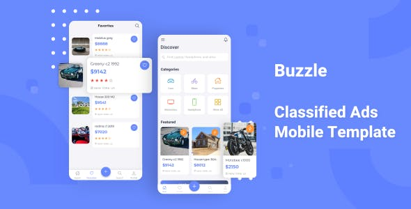 Download Buzzle - Classifed Ads Mobile Template