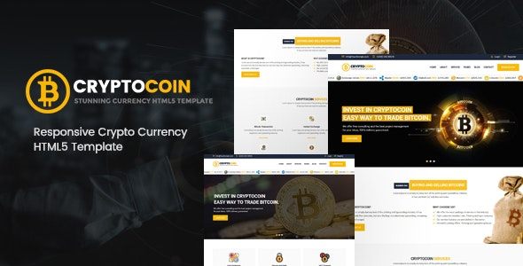 CryptoCoin | Bitcoin Crypto Currency Template - Business Corporate