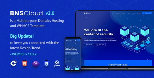 BNSCloud | Multipurpose Hosting with WHMCS Templates - Hosting Technology