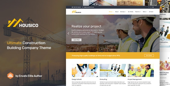 Housico - Ultimate Construction Building Company Theme - Business Corporate