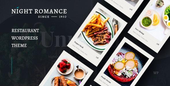 Nightromance - Restaurant WordPress Theme - Restaurants & Cafes Entertainment