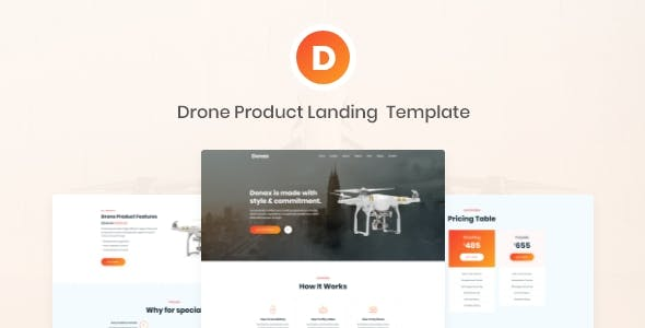 Donax - Drone Product Landing Template