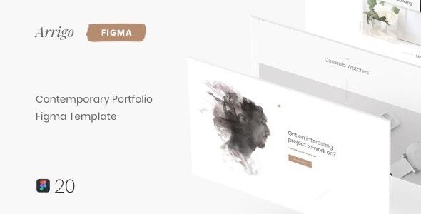 Arrigo – Contemporary Portfolio Figma Template - Portfolio Creative