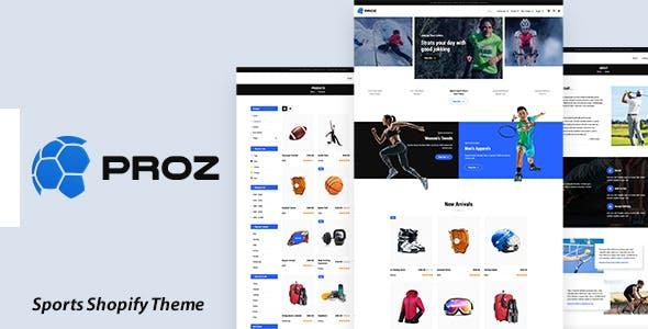 Proz - Sports Store Shopify Theme