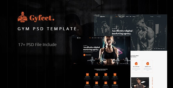 Gyfeet - Gym & Fitness PSD Template - Health & Beauty Retail