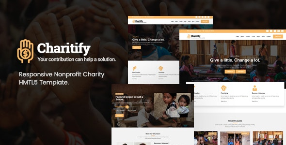 Charitify NGO Charity Fundraising HTML Template