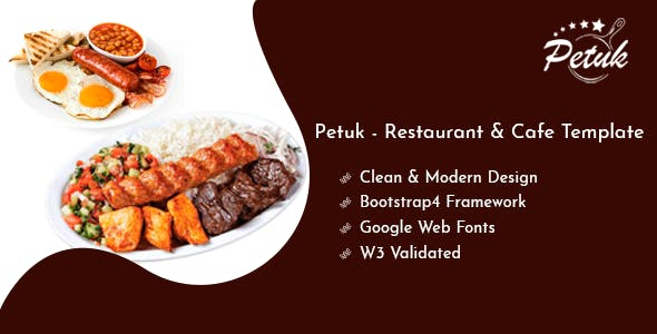 Download Petuk - Restaurant & Cafe Template