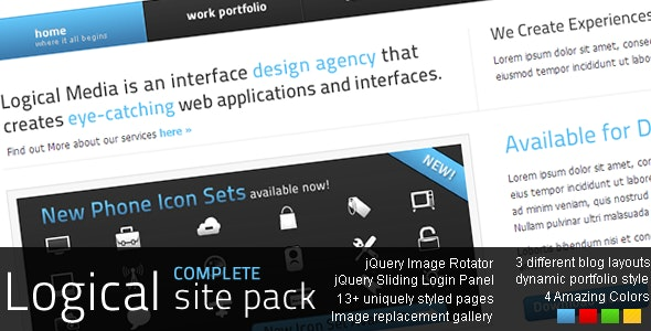 LOGICAL Complete Site Pack - Creative Site Templates