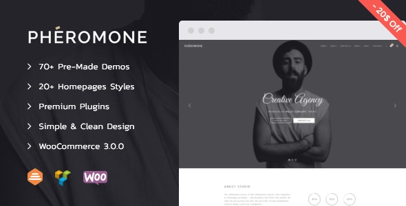 Pheromone - Creative Multi-Concept WordPress Theme - Creative WordPress