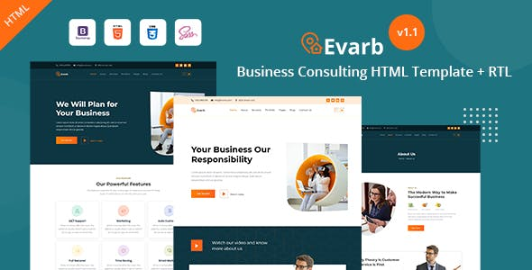 Everb - Business Consulting HTML Template