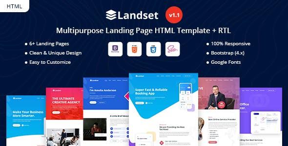Landset - Multipurpose Landing Page Template