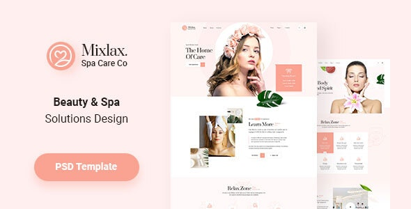 Mixlax Spa Beauty Salon Wellness Psd Template By Vecuro Themeforest