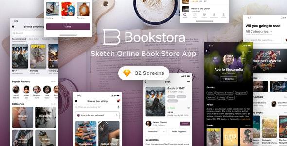 Bookstora - Sketch Online Book Store App - Business Corporate
