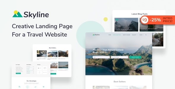 Skyline - Travel Agency HTML Landing Page Template - Travel Retail