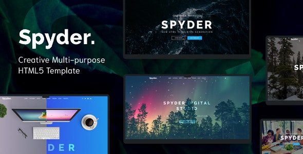 Spyder - One Page Multipurpose HTML Template - Creative Site Templates