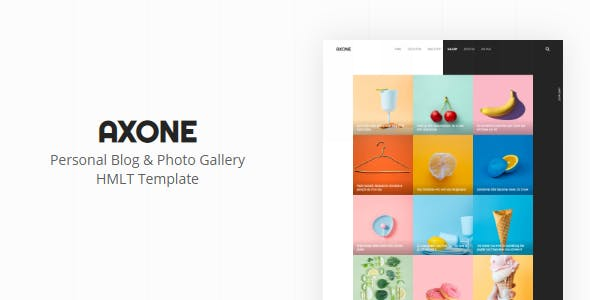 Download AXONE - Personal Blog & Photo Gallery Template