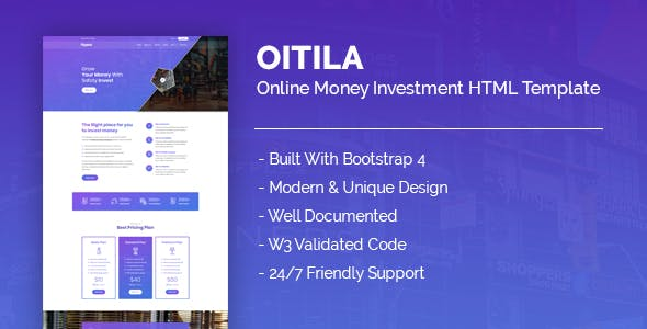 Download Oitila - Online Money Investment HTML Template