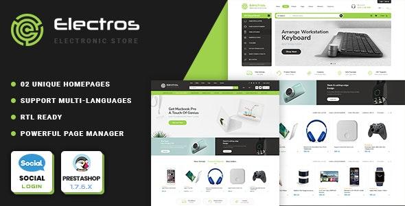 Electros | Electronics store Prestashop 1.7 Theme - Shopping PrestaShop