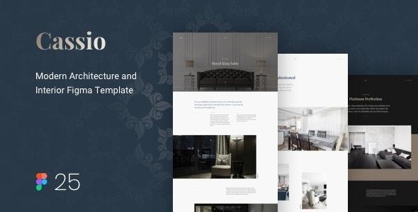 Cassio – Modern Architecture Figma Template - Portfolio Creative