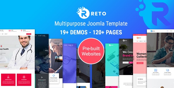 Reto - Responsive Multipurpose Joomla Template With Page Builder - Joomla CMS Themes