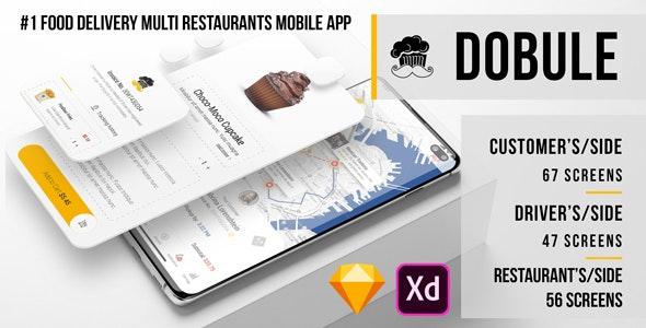Dobule - Food Delivery UI Kit for Mobile App - Food Retail