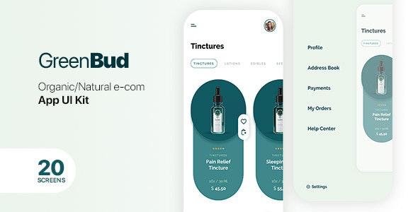 GreenBud App UI Kit for Sketch - Corporate Sketch