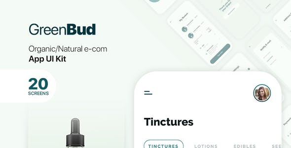 GreenBud App UI Kit for Adobe XD
